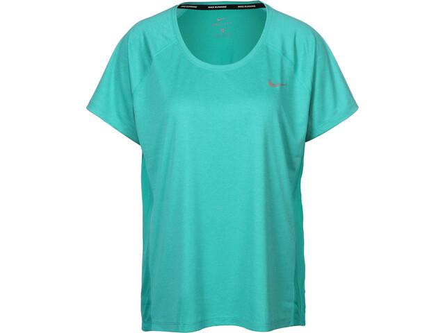 Nike Dry Miler T-Shirt Femme, turbo green/heather